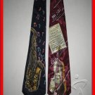 MENS MUSIC MUSICIAN SAXOPHONE VIOLIN INSTRUMENTS TIES