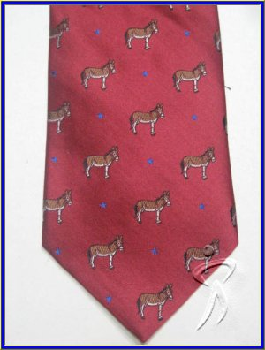MENS NEW DEMOCRATIC PARTY DONKEY LOGO ELECTION SILK TIE