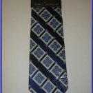 MENS NEW W/TAG STACY ADAM SILK TIE BLUE PLAID NECKTIE