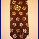 MENS NEW W/TAG STACY ADAM SILK TIE FLOWERS WOVEN