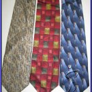 MENS DESIGNER COLLECTION SMALL PATTERNS SILK NECK TIES