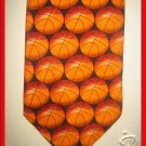 MENS CHRISTIAN PELINI BASKET BALLS SPORTS SILK NECK TIE