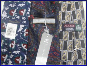 MENS HICKEY FREEMAN JOS A BANK PAISLEY SILK NECK TIES