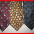 MENS DESIGNER EXECUTIVE CRISP WOVEN SILK NECK TIES WEAR