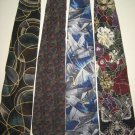 MENS DESIGNER COLLECTION LARGE PATTERNS SILK NECK TIES