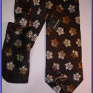 MENS NEW STACY ADAMS SILK TIE HANKY FLOWERS WOVEN CRISP