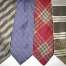 MEN CLAIBORNE LANDS END JOSA BANK CRISP WOVEN SILK TIES