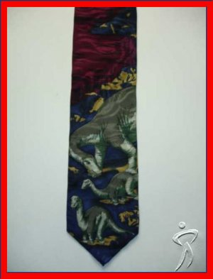 MENS APATOSARUS LATE JURASSIC PERIOD NOVELTY NECK TIE