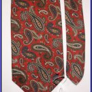 EXECUTIVE DESIGNER COLLECTION PAISLEY ART DECO SILK TIE
