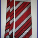 NEW GEOFFREY BEENE SILK TIE RED WHITE STRIPES EXECUTIVE