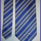 NEW GEOFFREY BEENE SILK TIE BLUE STRIPES CRISP WOVEN