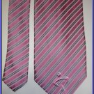 NEW GEOFFREY BEENE SILK TIE PIN STRIPES EXECUTIVE NECKT