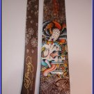 MENS NEW ED HARDY SILK TIE BEAUTIFUL GHOST FLOWERS