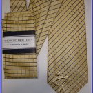NEW GIORGIO BRUTINI HANKY TIE SMALL PLAID WEDDING SUIT
