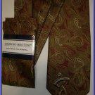 NEW GIORGIO BRUTINI HANKY TIE PAISLEY ART DECO FOR suit