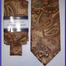 NEW GIORGIO BRUTINI W/ HANKY TIE EXECUTIVE PAISLEY ART