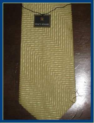 MENS NEW W/TAG STACY ADAMS SOLID PLAIN SUIT SILK TIE