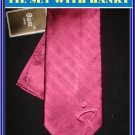 NEW BIANI OF ITALY SILK TIE HANKY SOLID PATCH WORK