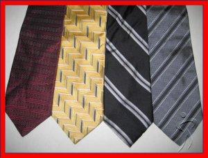 MENS DESIGNER COLLECTION STRIPES PLAID SILK NECK TIES