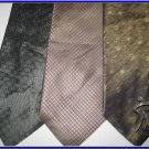 DESIGNER CLAIBORNE etc EXECUTIVE CRISP WOVE SILK TIES