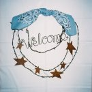 Stars and Welcome wreath