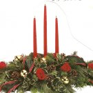 Christmas triple candle centerpiece