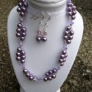 Purple pearls and crystals