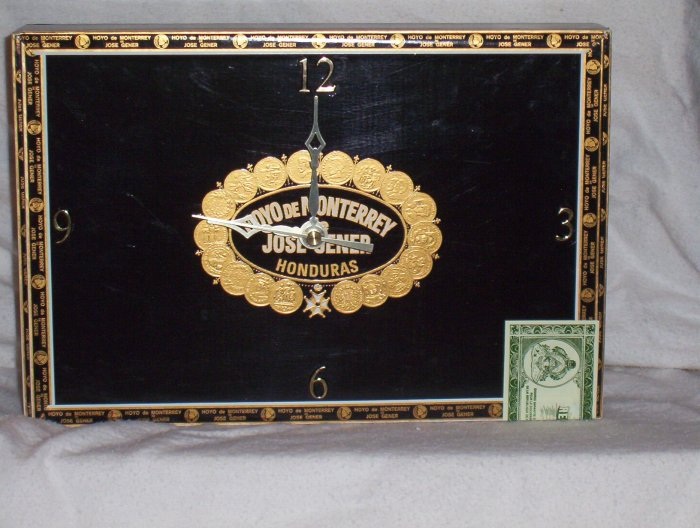 Moya De Monterey Cigar Box Clock