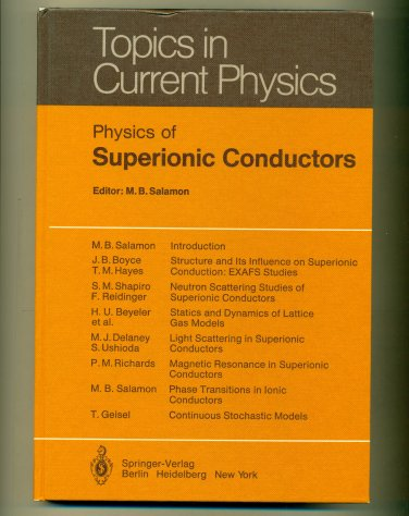 Physics of Superionic Conductors Salamon
