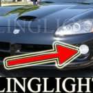 2003-2010 Dodge Viper Halo Fog Lamps Angel Eye Driving Lights Foglamps Foglights Kit