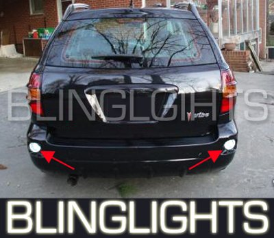 2003-2008 Pontiac Vibe Rear Bumper LED Lamps Reverse Backup Driving Fog Back-up Lights Kit