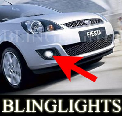 2002-2008 Ford Fiesta Xenon Fog Lamps Driving Lights Kit lx zetec ghia