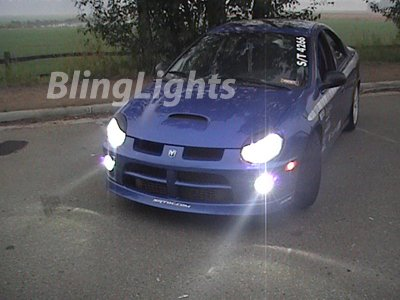 2003 2004 2005 Dodge Neon SRT-4 SRT4 Xenon Fog Lights Driving Lamps Kit