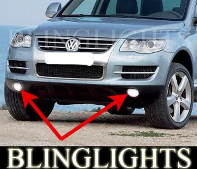 2008 2009 2010 Volkswagen VW Touareg Xenon Fog Lamps Driving Lights Foglamps Foglights Kit