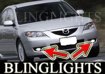 2008 2009 Mazda3 Mazda 3 Maxx Sport BK 2 Xenon Fog Lamps Driving Lights Foglamps Foglights Kit