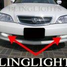 2002 2003 Acura TL Xenon Fog Lamp Driving Light Kit Grille Bumper Foglamps Foglights Drivinglights