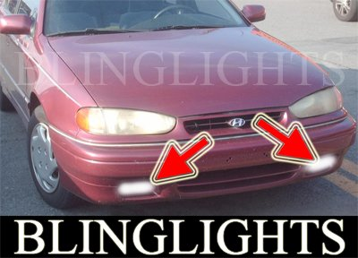 1994 1995 Hyundai Elantra Xenon Fog Lamps Driving Lights Foglamps Foglights Drivinglights Kit