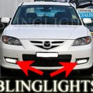 2008 2009 Mazda3 Mazda 3 SP23 BK Series 2 Xenon Fog Lamps Driving Lights Foglamps Foglights Kit