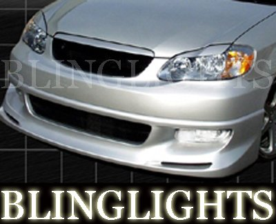 2003-2008 Toyota Corolla Vuteq Body Kit Bumper Foglamps Foglights Fog Lamps Driving Lights