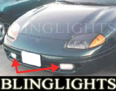 1991-1996 DODGE STEALTH FOG LIGHTS DRIVING LAMPS LIGHT LAMP KIT r/t lamps gto 1992 1993 1994 1995