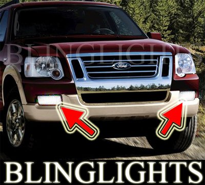 2006 2007 2008 2009 2010 Ford Explorer Xenon Foglamps Foglights Fog Lamps Lights Kit
