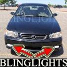 1998 1999 2000 2001 2002 Toyota Corolla ve ce le Xenon Fog Lamps Driving Lights Foglamps Foglights