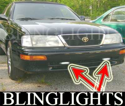 1995 1996 1997 Toyota Avalon Xenon Bumper Fog Lamps Driving Lights Foglamps Foglights Kit
