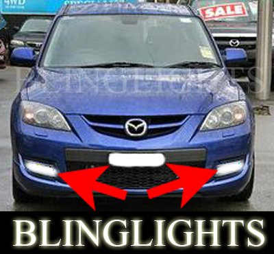 2007 2008 2009 Mazdaspeed3 Mazda3 MPS Mazda 3 Speed Xenon Fog Lamps Driving Lights Foglamps Kit