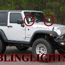 Jeep Wrangler JK TJ YJ Off-Road Windshield Side Mirror Auxilliary Driving Lamps Hood Lights Kit