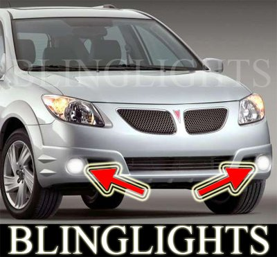 2005 2006 Pontiac Vibe GT Xenon Foglamps Foglights Driving Fog Lamps Lamp Light Lights Kit