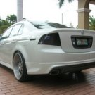 2004-2008 Acura TL Tinted Smoked Taillamps Taillights Overlays Film Protection