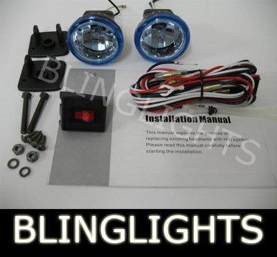 CHROME BLING BLINGLIGHTS BLUE XENON LENS ROUND AUXILIARY FOG LIGHTING LIGHTS LAMPS LIGHT LAMP KIT