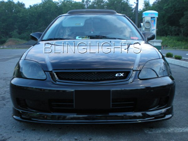 1996-2000 Honda Civic Tinted Smoked Headlamps Headlights Overlays Film Protection