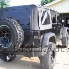 Jeep Wrangler Tinted Film Taillamps Taillights Tail Lamps Lights Smoked Protection Overlays Tint